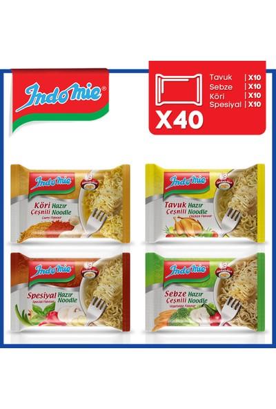 İndomie 40'lı Noodle Paket Karma Koli