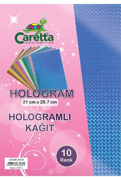 Caretta Hologramlı Kağıt 10 Lu - A4