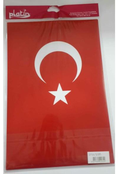 Platin Sticker A4 Türk Bayrağı - 8 Adet - Yapışkanlı