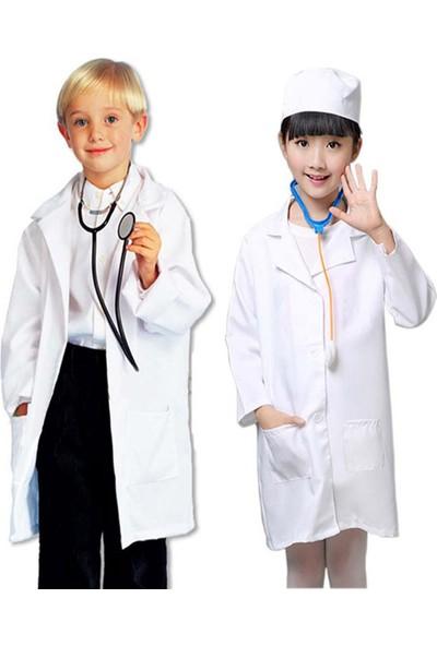 Shecco Babba Çocuk Doktor Önlüğü Kız Erkek 2-3 Yaş