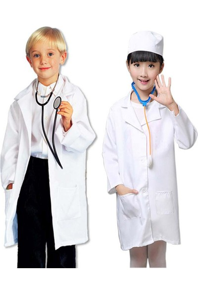 Shecco Babba Çocuk Doktor Önlüğü Kız Erkek 4-6 Yaş