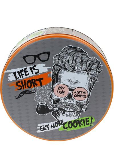 Wuw Life is Short Metal Kurabiye Çikolata Kutusu