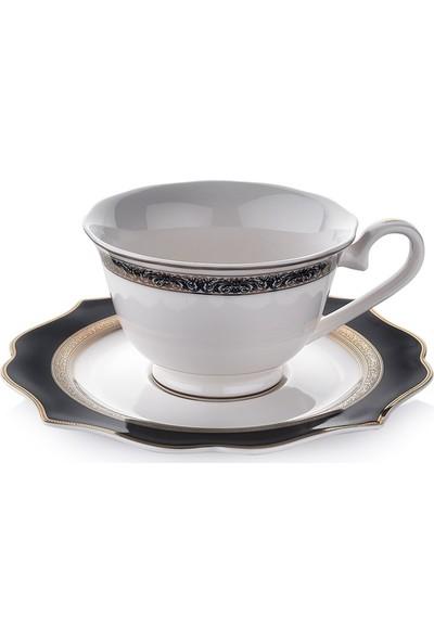 Schafer 12 Parça 6 Kişilik Dantella Kahve Fincan Takımı