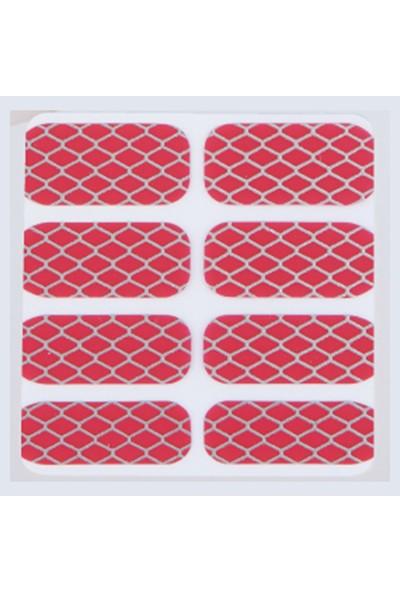 Limonian Glossy Blossom Nail Art- Tırnak Süsleme Stickerı - Blood Red Mesh