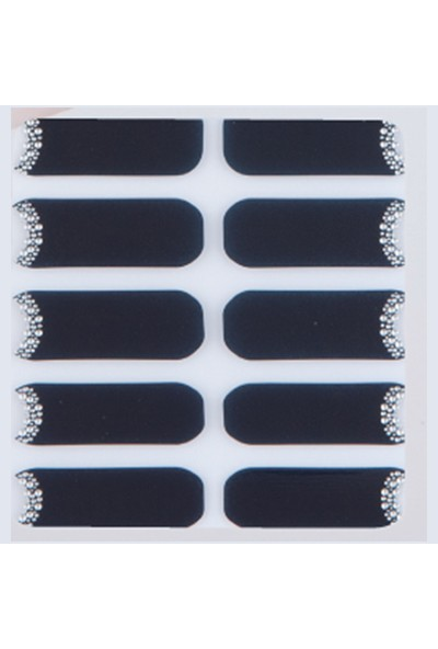 Limonian Glossy Blossom Nail Art- Tırnak Süsleme Stickerı - True Black Midnight Sun