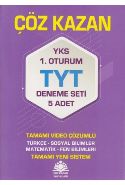 Çöz Kazan Yks-Tyt Deneme Seti 5'li 1. Oturum