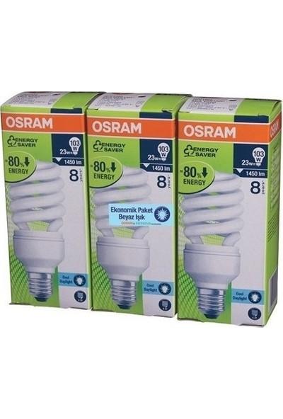 Osram 23W Tasarruflu Ampül 6Lı Paket Beyaz Işık