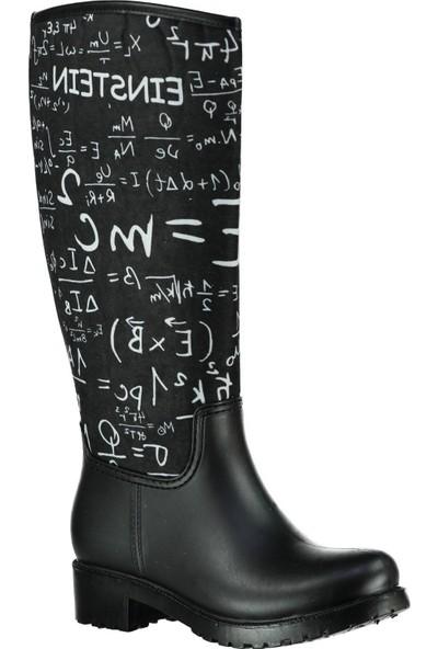Pembe Potin Siyah Çizme