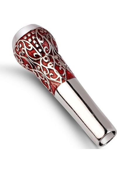 Affix Silver Gümüş İşlemeli Kırmızı Mineli Sipsi