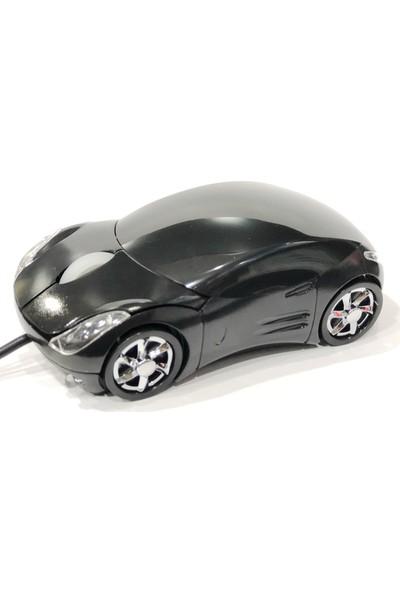 Prige PR-500 USB Arabalı Optik Mouse - Siyah