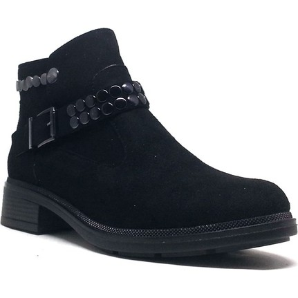 Shop And Shoes 190-402 Siyah Süet Bayan Bot