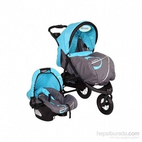 Babyhope Bh-606A Bebek Arabası Galaxy Jogger Travel Puset Taşıma & Oto Koltuğu Ve Anakucağı -Mavi