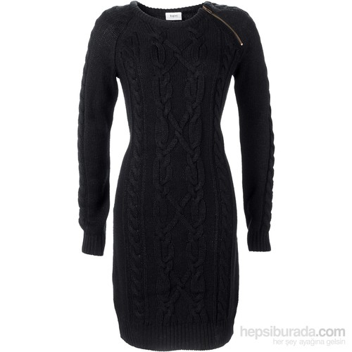 Bpc Bonprix Collection Siyah Örgü Elbise 34-54 Beden