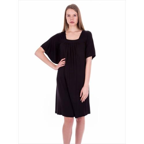Ayyıldız 59406 Siyah Yarasa Kol Elbise