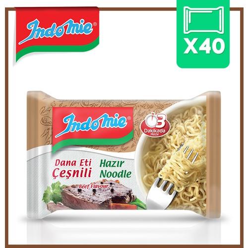 Indomie Dana Çeşnili Hazır Noodle 40'lı Koli