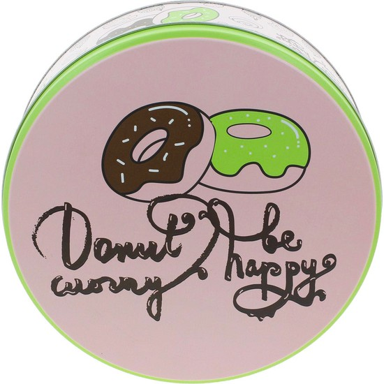 Wuw Donut Worry Metal Kurabiye Çikolata Kutusu