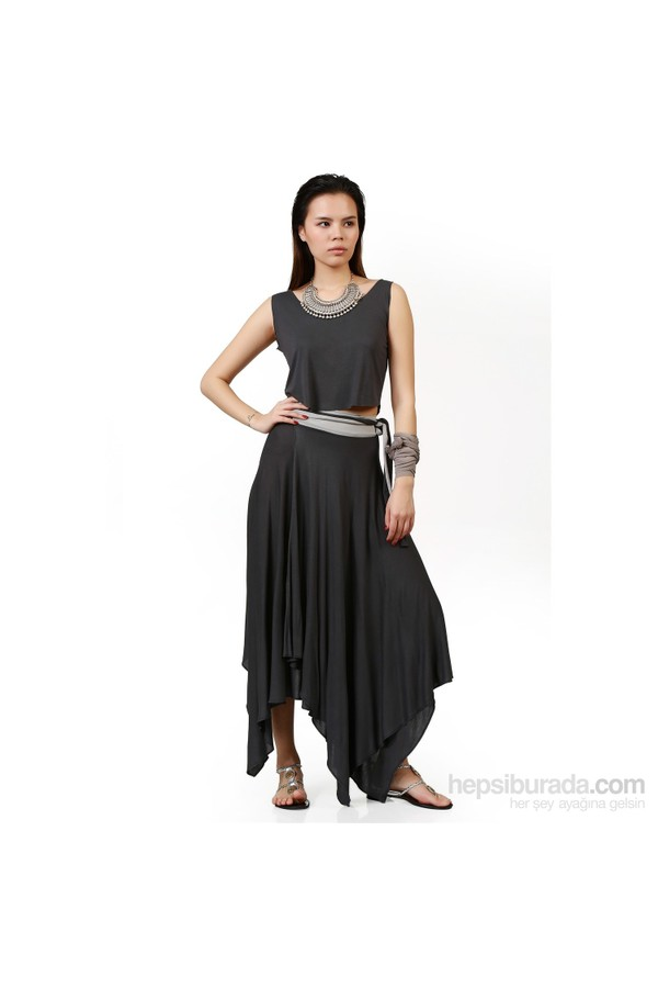 Demoda - Asymmetrical Length Women's Skirt