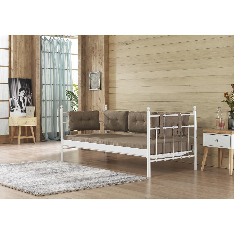 Unimet lalas sofa 90x200 mindersiz beyaz fiyat for Sofa 90x200