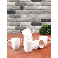 Keramika 6 Adet 9 Cm Bulut Kupa Mat Transparan Beyaz