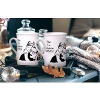Keramika 2 Adet 10 Cm Yakışılı Baba Kupası