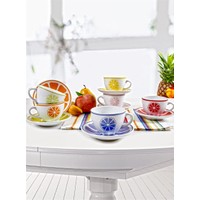 Keramika 12 Parça Kera Çay Takımı Meyveli