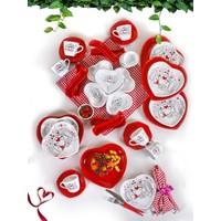 Keramika 42 Parça 6 Kişilik Keyfi Aşk Kahvaltı Seti