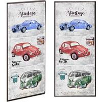 Ahşap Çerçeveli Arabalar Ahşap Tablo 30x60