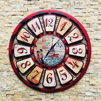 Tutku Retro Yeni Nesil Duvar Saati Kız Kulesi Modeli