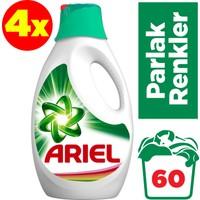 Ariel Sıvı Çamaşır Deterjanı Parlak Renkler 15 Yıkama 4'lü Paket