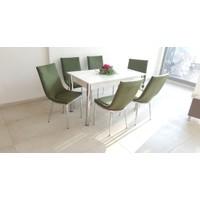 Kutuphome Masa Sandalye Takımı Poroma Haki Yeşil