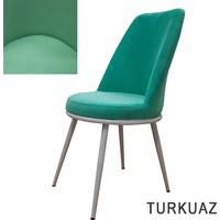 Şato Sandalye Kumaş Mutfak Sandalyesi Turkuaz