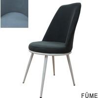 Şato Sandalye Kumaş Mutfak Sandalyesi Füme