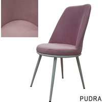 Şato Sandalye Kumaş Mutfak Sandalyesi Pudra Pembe