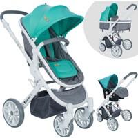 Lorelli Luna Seyahat Sistem Bebek Arabası + Ana Kucağı + Anne-Bebek Bakım Çantası / Grey&Green