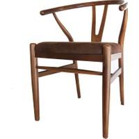 SZN Wood Sandalye Danish Ahşap Ayak