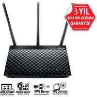 ASUS DSL-AC750 DualBand-Ebeveyn Kontrol Destekli-DLNA-VPN-ADSL-VDSL Modem Router