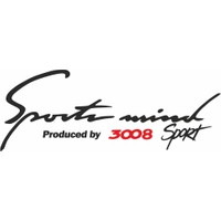 Otografik - Peugeot 3008 Sports Mind Oto Sticker 30 cm x 11 cm Siyah