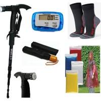 Watton Yürüyüş Batonu + Adımsayar + Trekking Çorap + Kullan At Yağmurluk + Şemsiye Set