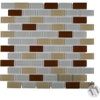 Mcm Mutfak Tezgah Arası Kristal Cam Mozaik Mp 416 Beyaz Krem