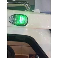 Sl10 Led'Li İskele - Sancak Seyir Feneri - Kromaj Renk 12V
