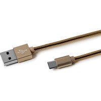 Celly USB TYPE-C Nylon Cable Altın -USBTYPECSNAKEGD