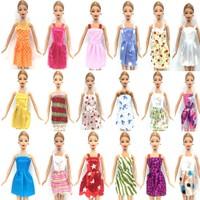 Kılıfkapakdünyası Barbie Bebek İçin 10 Kıyafet 10 Çift Ayakkabı 6 Kolye Barbie 26 Aksesuar
