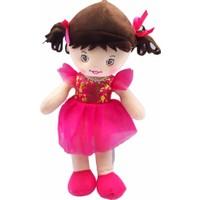 Kılıfkapakdünyası Oyuncak Bez Bebek 30 cm Evcilik Oyuncakları Kız Tütü Prenses Bebek Fuşya