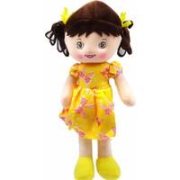 Kılıfkapakdünyası Sağlıklı 30 cm Oyuncak Bez Bebek Sarı Kurdelalı