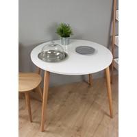 Yuvarlak Masa Beyaz