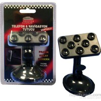 Autokıt Telefon Ve Navigasyon Tutucu ( Vantuzlu)- Çok Pratik,Şık Ve Sade