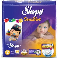 Sleepy Sensitive Bebek Bezi Mini Pepee 2 Beden 68 Adet