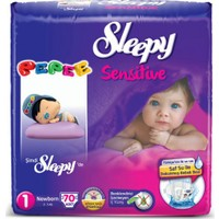 Sleepy Sensitive Bebek Bezi Newborn Pepee 1 Beden 70 Adet