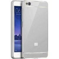 Microsonic Xiaomi Redmi 4A Luxury Mirror Kılıf Gümüş