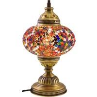 Masaüstü Mozaik Çalışma Masası Abajur Lamba Gece Lambası